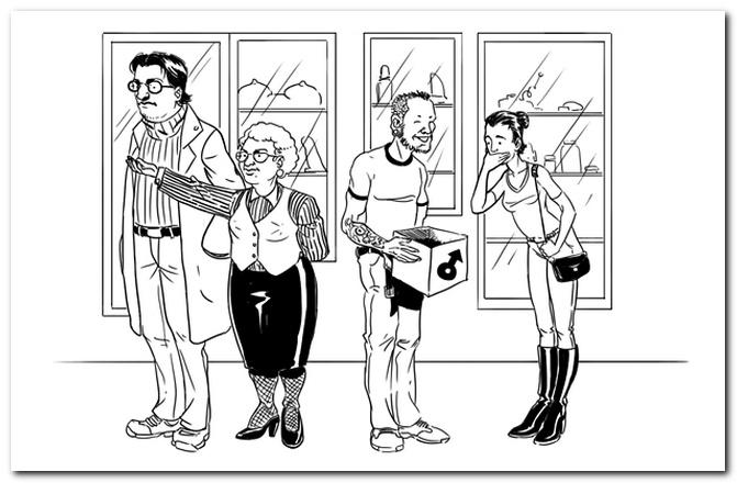 Интригующий рассказ о работе в секс-шопе от лица сотрудника. сотрудник секс-шопа