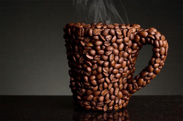 Кружка из кофейных зёрен