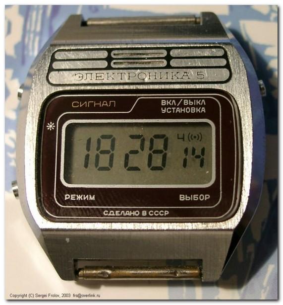 Подборка фото советских электронных часов «Электроника»