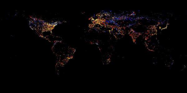 Ночная Земля из космома
