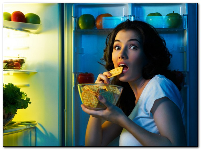 Фото как ночь в холодильнике