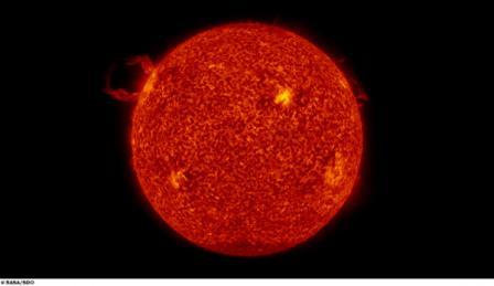 Полный диск Солнца, снятый SDO